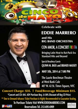 Eddie Marrero & Big Band Orchestra to Celebrate Cinco de Mayo at Laurie Beechman Theatre, 5/5