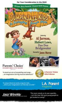 JUMPINJAZZ KIDS - A SWINGING JUNGLE TALE CD Receives 2012 Parents' Choice GOLD Award