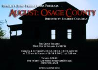 Ophelia's Jump Theatre Presents AUGUST: OSAGE COUNTY in Upland, 10/12-21