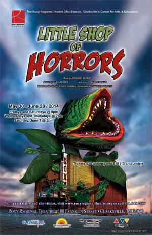 LITTLE SHOP OF HORRORS to Run 5/30-6/28 at Roxy Regional Theatre