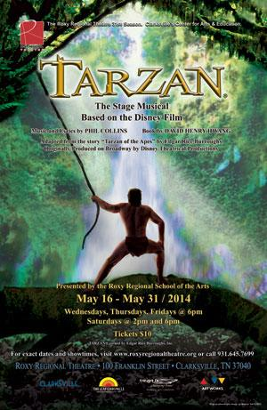 Disney's TARZAN Runs 5/16-31 at  Roxy Regional Theatre