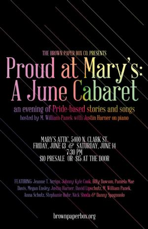 PROUD AT MARY'S Cabaret Set for Mary's Attic, 6/13-14