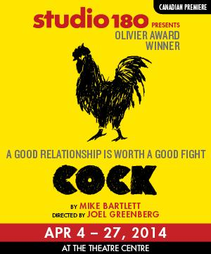 Studio 180 Theatre Stages Canadian Premiere of COCK, Now thru 4/27