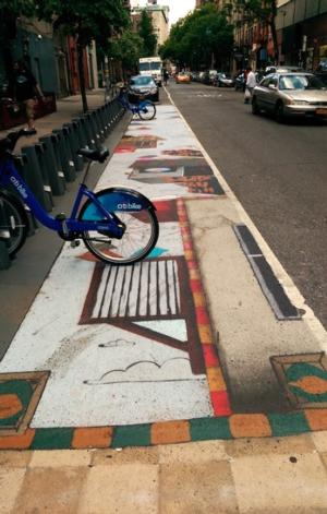 East 4th Street Citi Bike Station Activated with Art by Herb Smith