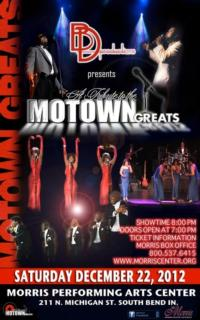 TRIBUTE TO THE MOTOWN GREATS Set for South Bend's Morris Performing Arts Center, 12/22