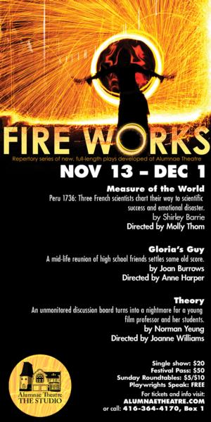 'FireWorks' Series to Kick Off 11/13 at Alumnae Theatre