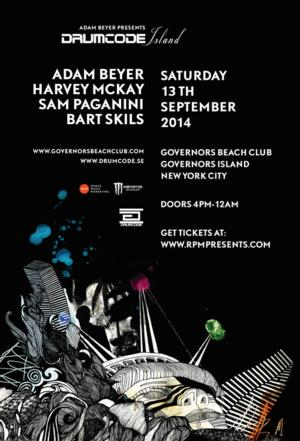 RPM & Adam Beyer to Present DRUMCODE ISLAND at Governors Beach Club, 9/13