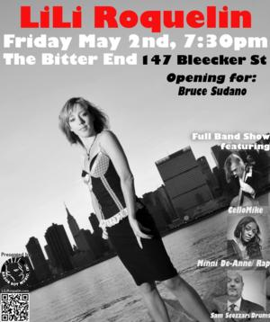 LiLi Roquelin Band to Perform at The Bitter End, 5/2