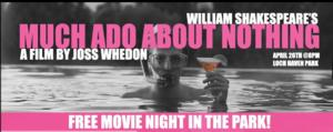 Orlando Shakespeare Theater Hosts Free Screening of Joss Whedon's MUCH ADO ABOUT NOTHING in the Park Tonight