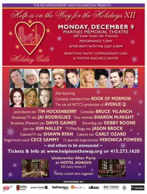 BOOK OF MORMON National Tour Cast Members & More Join HELP IS ON THE WAY FOR THE HOLIDAYS XII, 12/9
