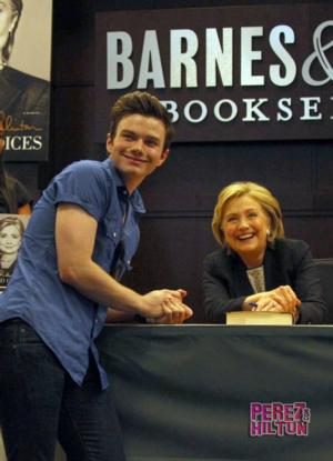GLEE's Chris Colfer Visits Hilary Clinton Book Signing