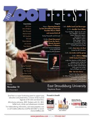 ZOOT FEST 2013 Set for 11/10 at East Stroudsburg University