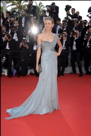 Naomi Watts Wears a Prudential Financial Dress at Cannes