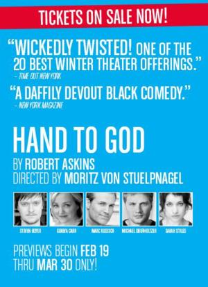 Tickets Now On Sale for MCC's HAND OF GOD with Steven Boyer