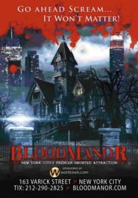 BLOOD MANOR to Return to NYC for Halloween This Year