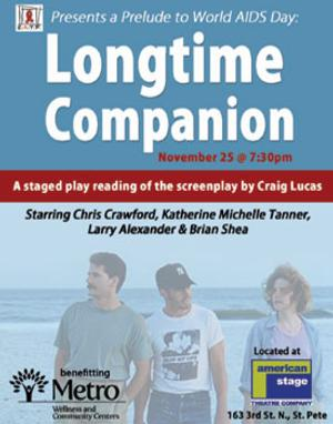 Suncoast AIDS Theatre Project to Present PRELUDE TO WORLD AIDS DAY: LONGTIME COMPANION, 11/25