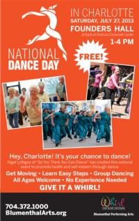 Blumenthal Performing Arts to Host NATIONAL DANCE DAY at Founders Hall, 7/27