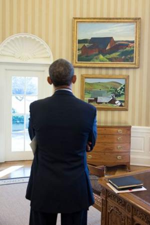 Edward Hopper Paintings Hung in Oval Office