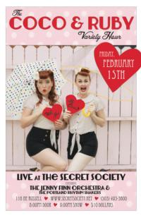 MUSE ROUGE PRODUCTIONS and THE SECRET SOCIETY Presents THE COCO & RUBY VARIETY HOUR, 2/15