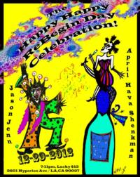 April Hava Shenkman and Jason Jenn Present HAPPY HAPPY REBEGIN DAY at Spirit Studio Silverlake Tonight