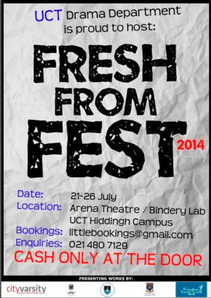 UCT Drama Dept Hosts FRESH FROM FEST