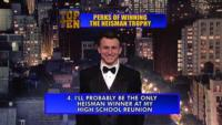 2012 Heisman Trophy Winner, Johnny Manziel, to Present 'Top 10' on Tonight's LATE SHOW