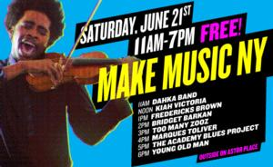 Joe's Pub Brings Free Music to Astor Place, 6/21