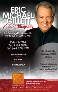 Eric Michael Gillett Brings CARELESS RHAPSODY to 54 Below, Now thru 2/27