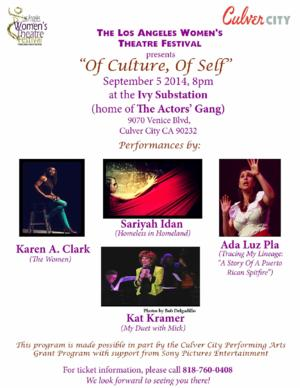 Los Angeles Women's Theatre Festival Presents OF CULTURE, OF SELF at Ivy Substation, 9/5