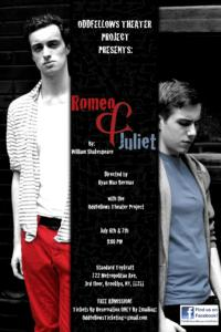 Oddfellows Theater Project Presents ROMEO & JULIET Tonight