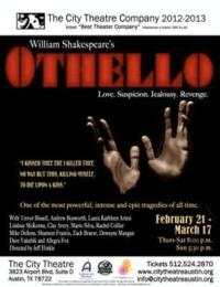 The City Theatre Company Presents OTHELLO, Opening 2/21