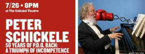 Peter Schickele Performs '50 YEARS OF P.D.Q. BACH' at The Colonial Theatre Tonight