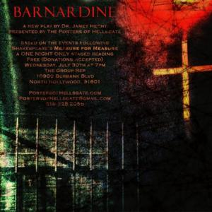 World Premiere Staged Reading of BARNARDINE Set for Tonight at The Group Rep