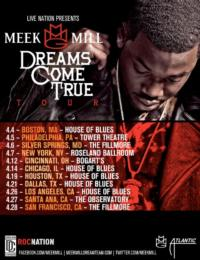 Live Nation & Hip Hop Star MEEK MILL Announce 'Dreams Come True' Tour