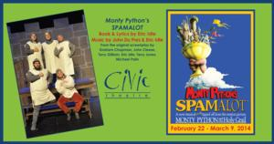 Monty Python's SPAMALOT to Play the Civic Theatre, Beg. 2/22