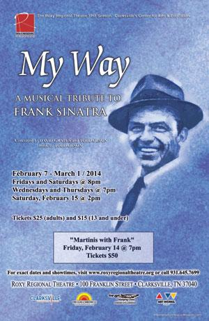 MY WAY to Run 2/7-3/1 at Roxy Regional Theatre