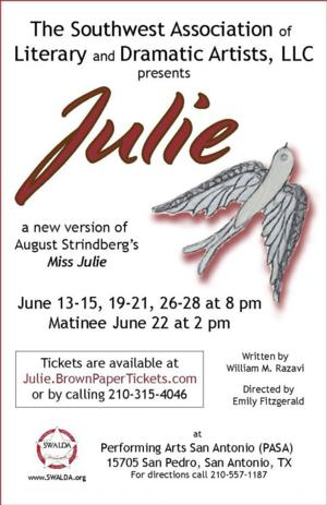 William Razavi's JULIE to Play Performing Arts San Antonio, 6/13-28