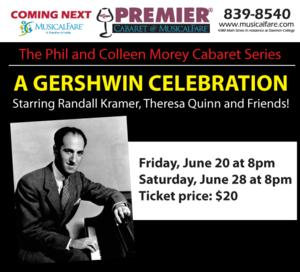 MusicalFare's Premier Center Cabaret to Welcome A GERSHWIN CELEBRATION, Barbara Levy Daniels and Kerrykate Abel, June 2014