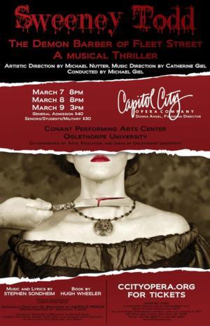 Capitol City Opera Company Opens Season with SWEENEY TODD Tonight