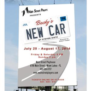 Main Street Players Present BECKY'S NEW CAR This Weekend
