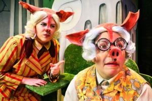 Big Bad Wolf Faces Pig Court in THE TRUE STORY OF THE 3 LITTLE PIGS! Through 2/16