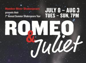 Humber River Shakespeare Takes ROMEO AND JULIET on Tour, Now thru Aug 3
