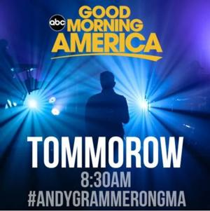Andy Grammer to Perform 'Back Home' on Tomorrow's GMA