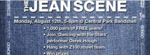 Derek Hough Joins Sears Style Jean Scene in Central Park