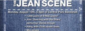 Derek Hough Joins Sears Style Jean Scene in Central Park