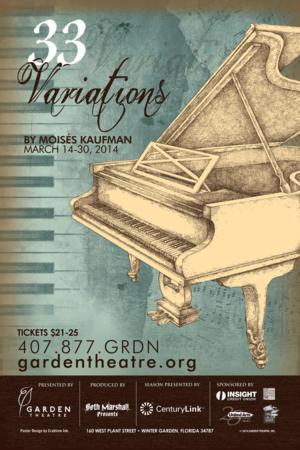 Garden Theatre to Present 33 VARIATIONS, 3/14-30