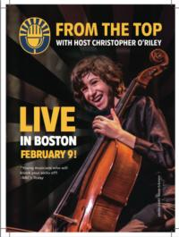 NPR's FROM THE TOP to Present Live Taping at New England Conservatory's Jordan Hall, 2/9