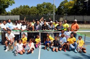 NYC Parks & Council Member Open New Tennis Courts in Lincoln Terrace Park