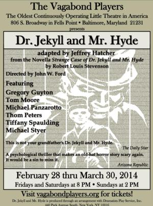 DR. JEKYLL AND MR. HYDE to Open 2/28 at Vagabond Theatre