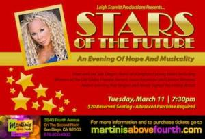 Leigh Scarritt to Bring STARS OF THE FUTURE to Martinis Above Fourth Table + Stage, 3/11